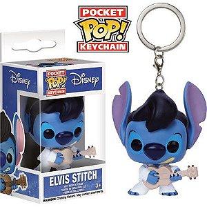 Funko Pocket Chaveiro Elvis Stitch Disney Exclusivo Hot Topic