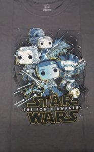 Camiseta Funko Linha Star Wars Resistência Exclusiva Cinza