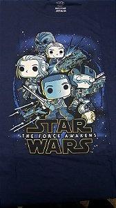 Camiseta Funko Linha Star Wars Resistência Exclusiva Azul Marinho