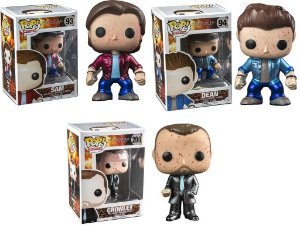 Funko Pop Set Supernatural Exclusivo Metálicos Blood Sam , Dean Crowley