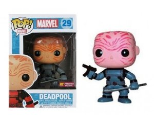 Funko Pop Deadpool Unmasked Grey Exclusive Pronta Entrega
