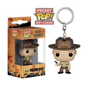 Funko Pocket Chaveiro Rick Grimes The Walking Dead Pronta Entrega