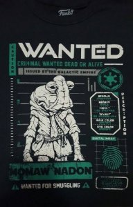 Camiseta Funko Linha Star Wars Wanted Momaw Exclusiva