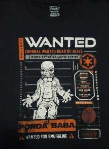Camiseta Funko Linha Star Wars Wanted Ponda Baba Exclusiva