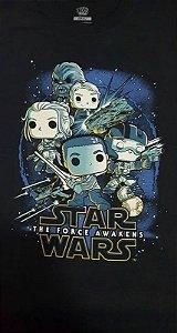 Camiseta Funko Linha Star Wars Resistência Exclusiva Preta