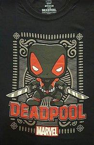Camiseta Funko Linha Marvel Deadpool Cinza Exclusiva