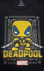 Camiseta Funko Linha Marvel Deadpool Amarelo Exclusiva