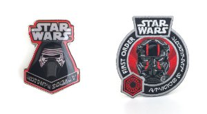 Funko Pin e Emblema Tecido Star Wars Primeira Ordem Exclusivo