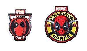 Funko Pin e Emblema Tecido Marvel Deadpool Exclusivo