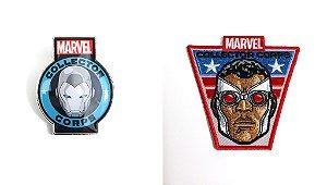 Funko Pin e Emblema Tecido Marvel Secret Wars Exclusivo