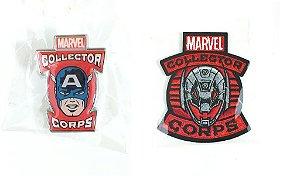 Funko Pin e Emblema Tecido Marvel Vingadores Exclusivo