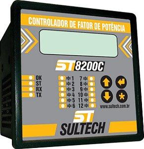 ST8200C/12/TC CONTROLADOR DE FATOR DE POTÊNCIA FF+FN 12 SAIDAS C/REGISTRO Sultech