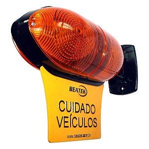 SINALIZADOR DE GARAGEM 45 LED BIVOLT 127/220V AMBAR/VERMELHO Beatek GdC.F3