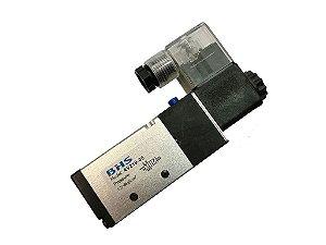 """VALVULA SOLENOIDE SIMPLES 4V210-08 1/4"""" 5/2-VIAS 220V Bhs"""
