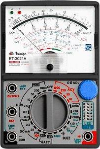 ET-3021A MULTIMETRO ANALOGICO 20MΩ-10A Minipa GdG2/BL02