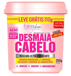 Forever Liss Desmaia Cabelo 350g Anti Volume Frizz (+brinde)