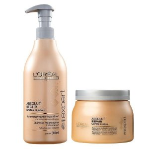 Loreal Absolut Repair Cortex Lipidium Kit Shampoo Mascara