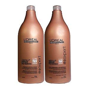 Loreal Absolut Repair Pós-quimica Shampoo + Condic. (1,5L)