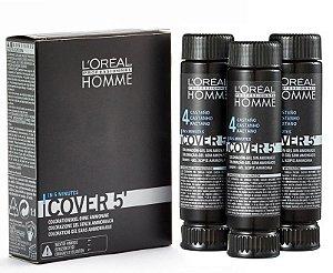Loreal Homme Cover 5 N. 4 Castanho - Coloração 3x50ml