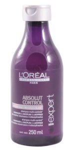 Loreal Absolut Control Shampoo p/ Rebeldes Frizz - 250ml