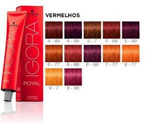 Tintura Igora Royal 9-98 Louro Extra Claro Violeta Vermelho