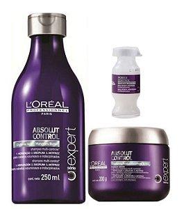 Loreal Absolut Control Shampoo 250ml + Máscara 200g  + Ampola