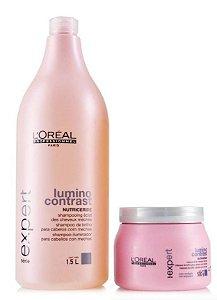 Loreal Lumino Contrast Shampoo 1.5L + Mascara 500ml