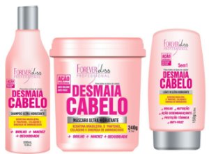 Forever Liss Kit Desmaia Cabelo Anti Volume e Frizz 240g  (3pc)