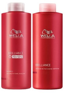 Wella Brilliance Kit Duo p/ Coloridos - 2 x 1 Litro