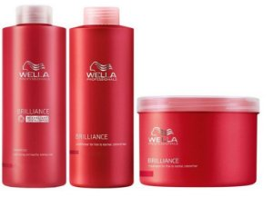 Wella Brilliance Kit p/ Colorido Profissional Litro (3 itens)