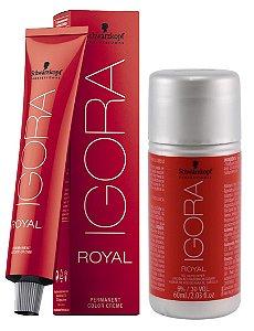Tintura Igora Royal 9-7 Louro Extra Claro Cobre + OX 30 Vol. (9%)