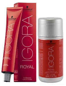 Tintura Igora Royal 9-7 Louro Extra Claro Cobre + OX 20 Vol. (6%)