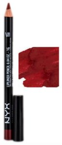 NYX Lápis Boca SPL844 Slim Lip Pencil - Deep Red