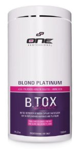 B.tox Capilar Silver Blond Platinum One Professional 1Kg (+ Brinde)