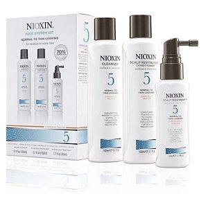 Kit Nioxin System 5 Para Cabelos Enfraquecidos (3 Produtos)