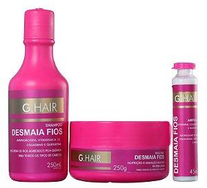 Ghair Kit Desmaia Fios Shampoo, Máscara e Ampola (+ Brinde)