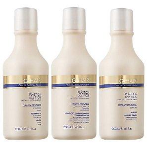Ghair Plástica dos Fios Kit Pós Quimica e Hidratação (3x250ml)