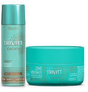 Itallian Trivitt Cachos Shampoo Condicionante + Creme Hidratante 300g