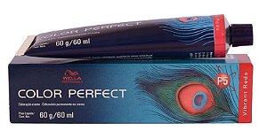Tintura Wella Color Perfect 7/4 Louro Médio Avermelhado - 60g