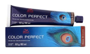 Tintura Wella Color Perfect 5/77 Castanho Claro Marrom Intenso - 60g
