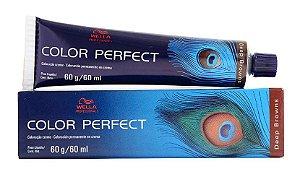 Tintura Wella Color Perfect 7/77 Louro Médio Marrom Intenso - 60g