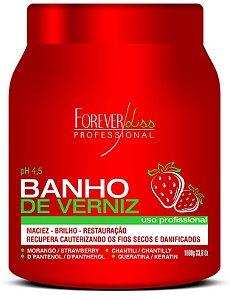 Forever Liss Banho de Verniz Morango 1 Kilo (+brinde)