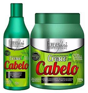 Forever Liss Cresce Cabelo Kit Fitoterápico + Mascara Grande 1kg