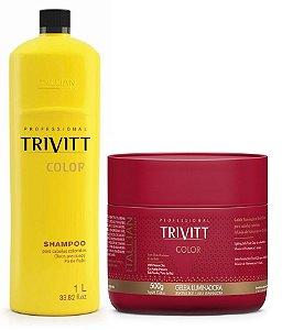 Itallian Trivitt Color Kit Shampoo 1L + Geléia Iluminadora 500g