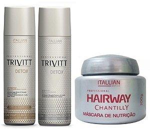 Itallian Trivitt Kit Detox Shampoo + Condic 250ml + Mascara 200g