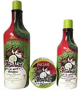 Inoar Bombar Coconut Kit Shampoo + Condicionador + Máscara 250g
