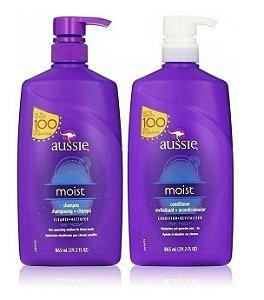 Aussie Kit Shampoo e Condicionador Moist 865ml