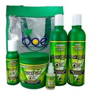 Boé Kit Crece Pelo Completo c/ Bolsa + Ampola + Mascara 450g (5 itens)
