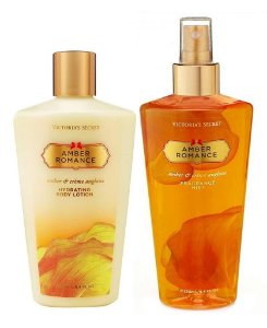 Victorias Secret Kit Hidratante + Splash Amber Romance