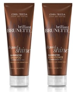 John Frieda Shampoo e Condicionador Brunette Liquid Shine Brilliant Kit